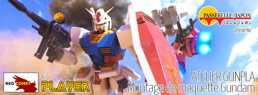 atelier gunpla gratuit au player avec red comet